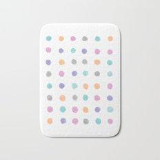 Watercolor dots Bath Mat