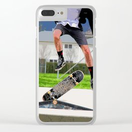 Missed Opportunity  - Skateboarder Clear iPhone Case