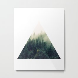 Triangle Window Metal Print