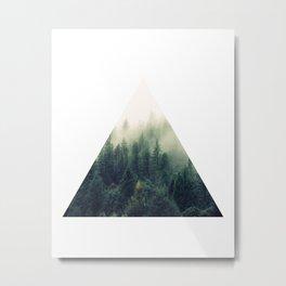 Triangle Window Metal Print