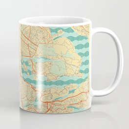 Stockholm Map Retro Coffee Mug