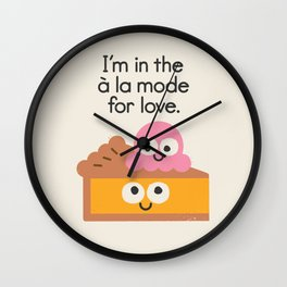 A Relationship Built On Crust Wall Clock
