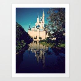The Disney Castle  Art Print