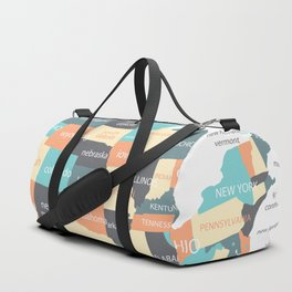 Map of the United States Duffle Bag