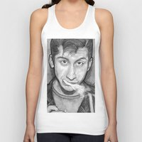alex turner Tank Tops featuring Alex Turner Drawing  by Not Too Shabby