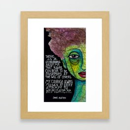 There is a stubbornness about me Framed Art Print