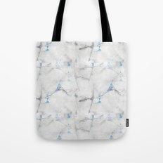 Blue Cracked Design Tote Bag