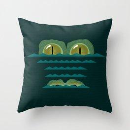 Big Croc Throw Pillow