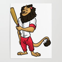 Baseball Pitcher Gift Sport Catcher Batter Poster