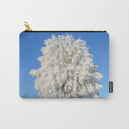 Frost Covered Tree Carry-All Pouch