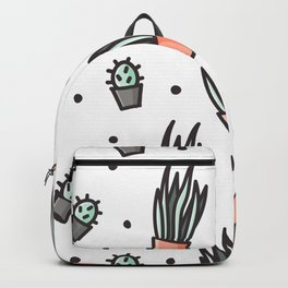 Sansevieria and cactus doodles Backpack