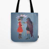 calcifer Tote Bags featuring The Secret World by CromMorc