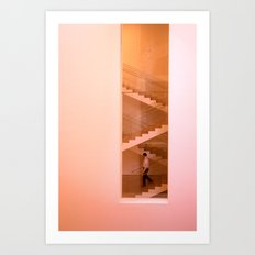 Day at the museum - stairs Art Print