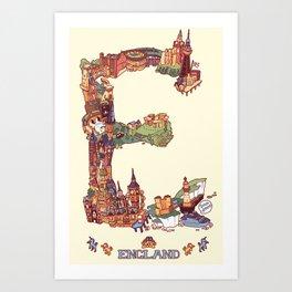 E is for England Art Print