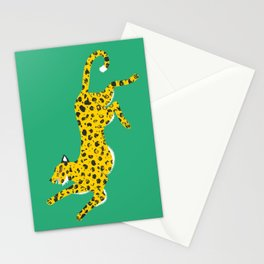 Green Leopard Stationery Cards