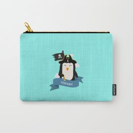 Penguin Pirate Captain from VERMONT  T-Shirt Carry-All Pouch