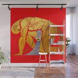 "Art Deco Design ""Samson & Delilah"" Wall Mural"