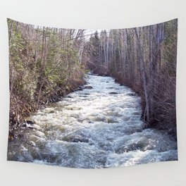 Swollen Creek Runs Wild Wall Tapestry