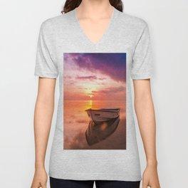 The Best Sunset Unisex V-Neck