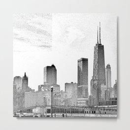 The Windy City. Metal Print
