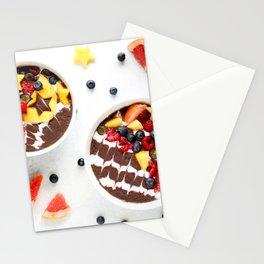 Acai smoothie bowls Stationery Cards