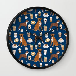 Boxer dog breed coffee pet gifts boxers pupuccino Wall Clock