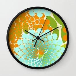 Modern Garden Spiral Flowers Wall Clock