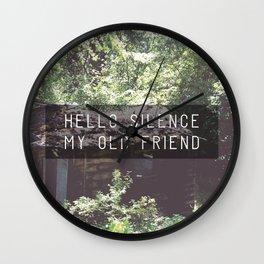 Hello Silence  Wall Clock