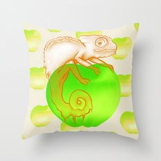 Caramel Chameleon Throw Pillow