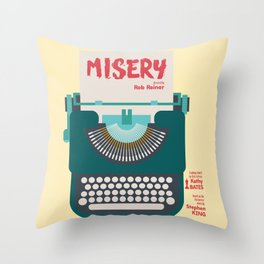 Misery, Horror, Movie Illustration, Stephen King, Kathy Bates, Rob Reiner, Classic book, cover Throw Pillow