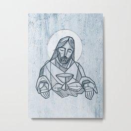 Jesus Christ at the Last Supper Metal Print