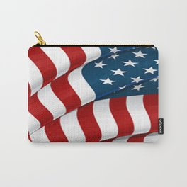WAVY AMERICAN FLAG JULY 4TH ART Carry-All Pouch