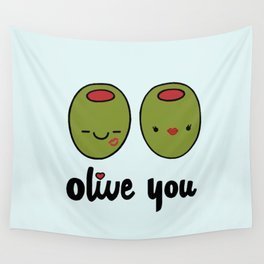 Olive You Wall Tapestry