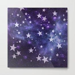 ALL STARS PURPLE Metal Print