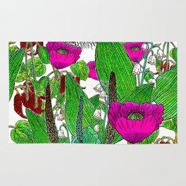 Vintage Pepper + Flower Garden Rug