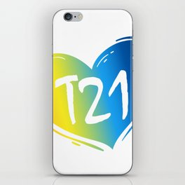 T21 Down Syndrome Awareness iPhone Skin
