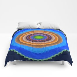 Colourful mandala with tribal patterns Comforters