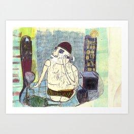 shaving Art Print