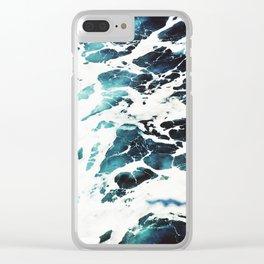 Ecume d'océan Clear iPhone Case