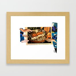 Kebab Grab Framed Art Print