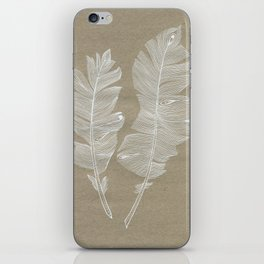 white feathers iPhone Skin