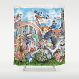 Studio Ghibli Shower Curtain