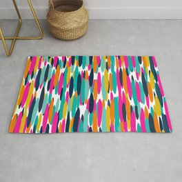 Colorful Stripes, Fun Art, Colourful Prints, Abstract Art Rug