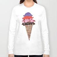 ice cream Long Sleeve T-shirts featuring Ice Cream by Sartoris ART