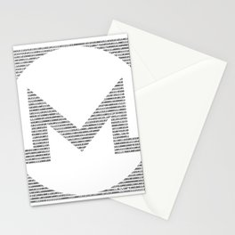 Binary Monero Stationery Cards