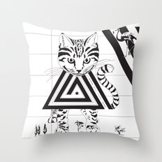 Alice in Wonderland Series - We're All Mad Here Throw Pillow