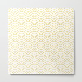Japanese Wave Pattern  Metal Print