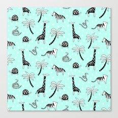 Safari Mint Canvas Print