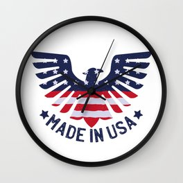 4th Of July Independence Day American Eagle Wall Clock