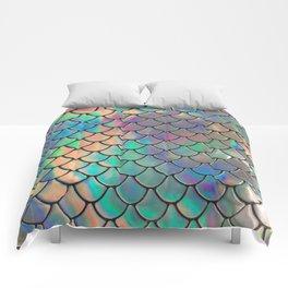 Iridescent Scales Comforters